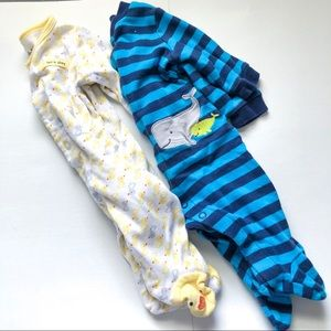 Like New! 7 Piece 0-3 Month Baby Boy Sleepers